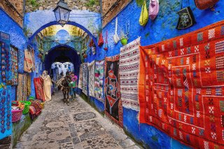 Old town Chefchaouen Chaouen The Blue City Morocco North Africa