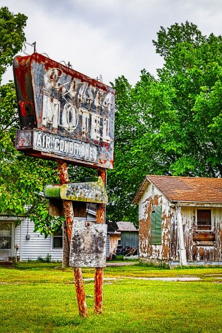 Chelsea Motel Sign in Chelsea Oklahoma on Route 66